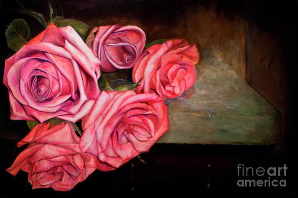 Wall Art - Painting - Venus Roses by Julie Bond