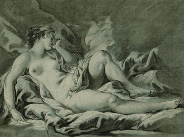 Goddess Drawing - Venus Sleeping by Louis Marin Bonnet