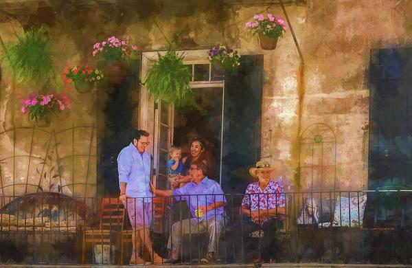 Veranda Bleue Art Print