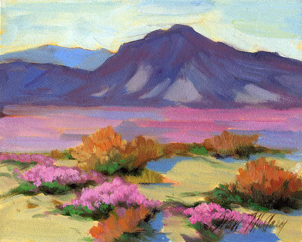 Dunes Painting - Verbena 1 by Diane McClary