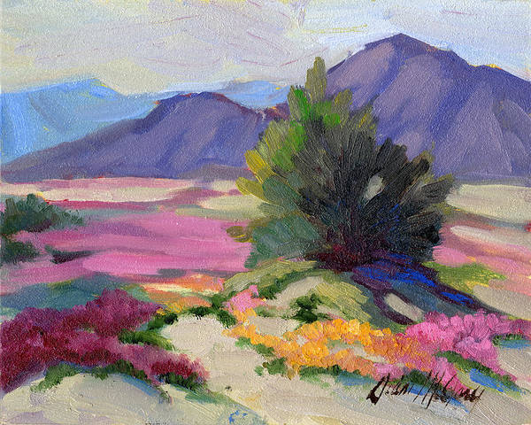 Wall Art - Painting - Verbena 2 by Diane McClary