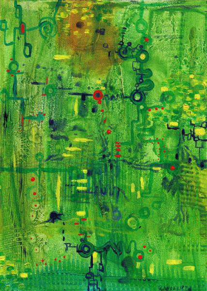 Painting - Verdant Algorithm by Regina Valluzzi