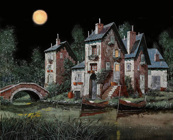 Night Painting - Verde Notturno by Guido Borelli