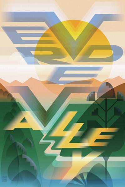 Valley Digital Art - Verde Valley Poster by Garth Glazier