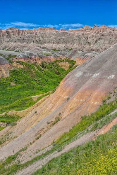 Photograph - Verdant Badlands by John M Bailey