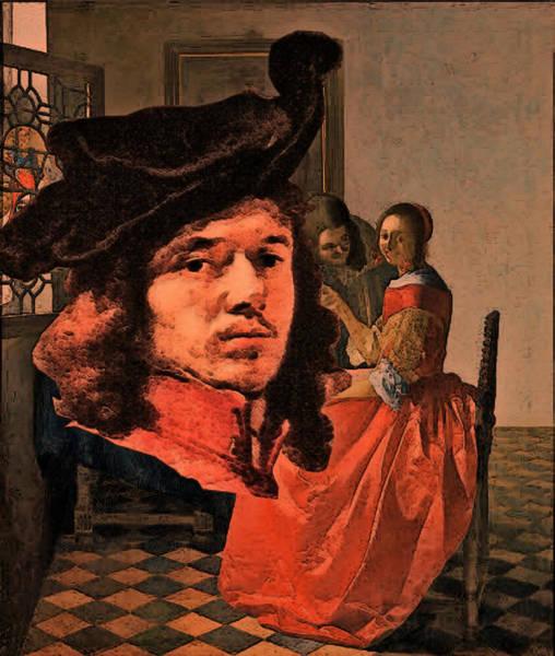 Digital Art - Vermeer Study In Orange by Tristan Armstrong