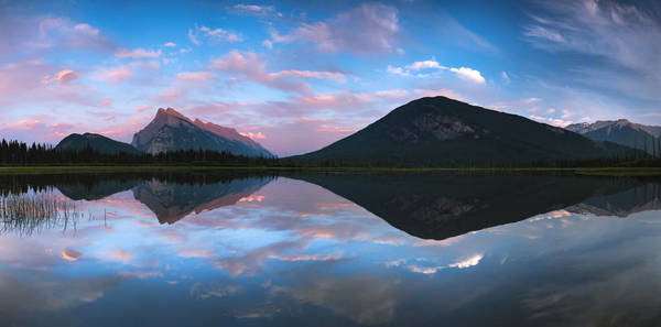Wall Art - Photograph - Vermilion Lakes Panorama by Cale Best