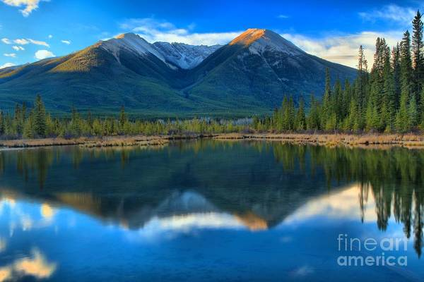 Photograph - Vermilion Lakes Reflections by Adam Jewell