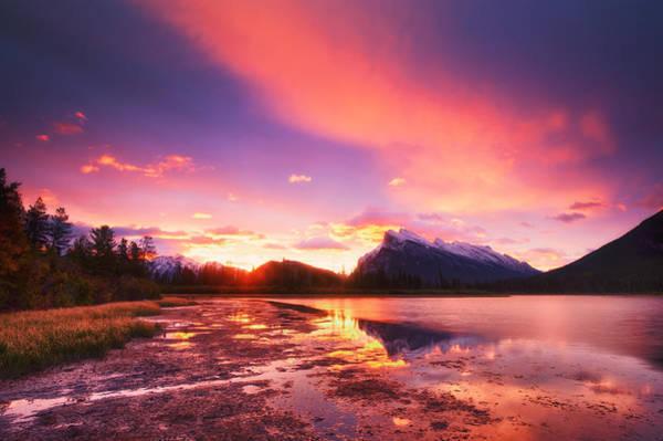Photograph - Vermilion Lakes by U Schade