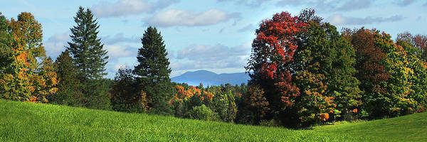 Photograph - Vermont Autumn Panoramic by Joann Vitali