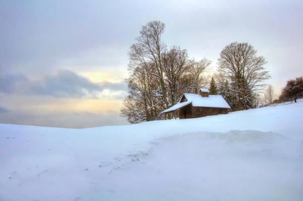 Photograph - Vermont Barn In Snow - Pomfret, Vt by Joann Vitali