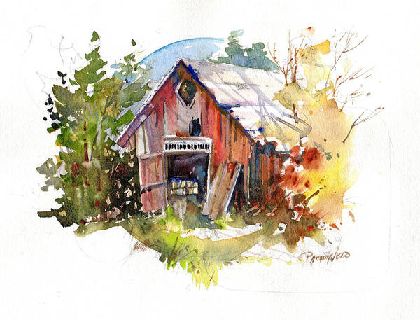 Painting - Vermont Barn by P Anthony Visco