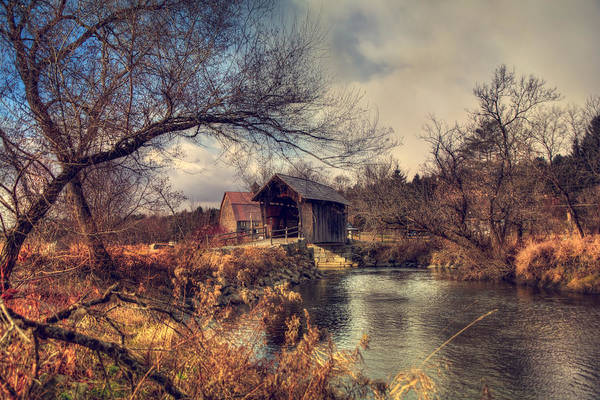 Photograph - Vermont Covered Bridge - Martin Bridge by Joann Vitali