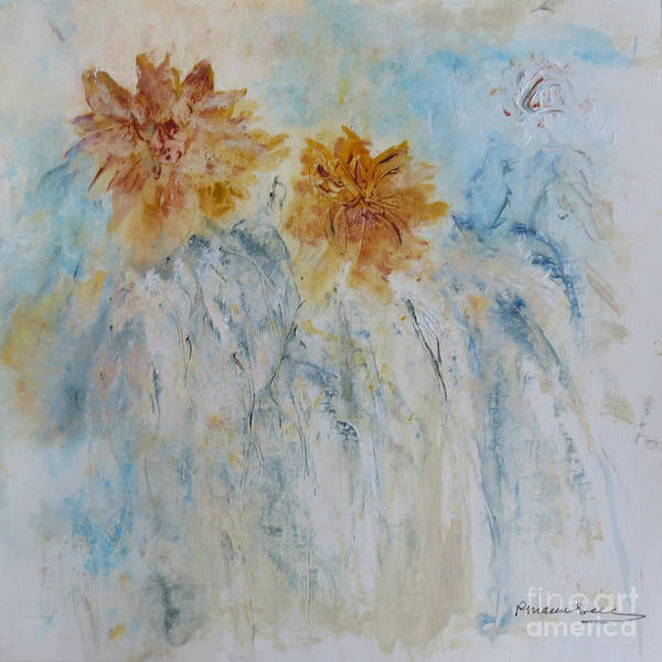 Wall Art - Painting - Vermont Fall's Golden Mums by Peggy Maunsell