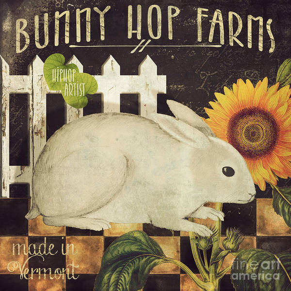 Wild Rabbit Painting - Vermont Farms Bunny Rabbit by Mindy Sommers