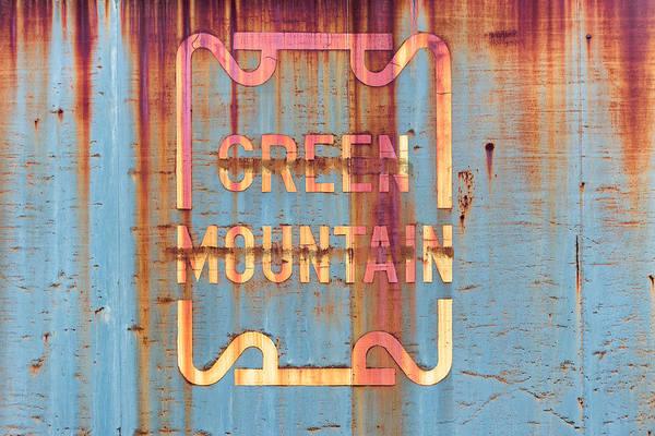Wall Art - Photograph - Vermont Green Mountain Railroad Rail Car Signage by Jeff Abrahamson