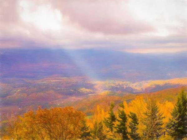 Digital Art - Vermont In The Fall. by Rusty R Smith