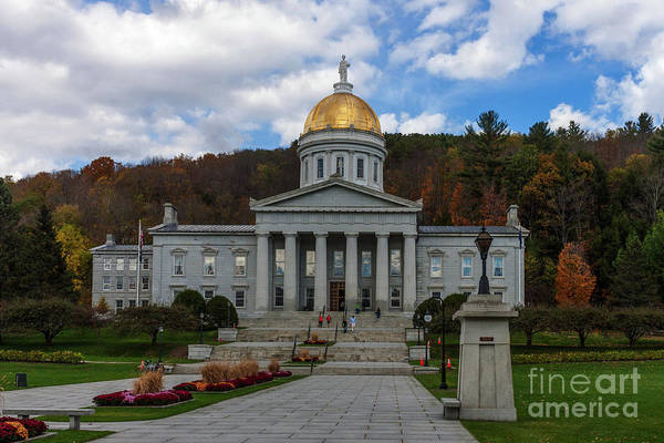 Greek Revival Architecture Photograph - Vermont State House by Thomas Marchessault