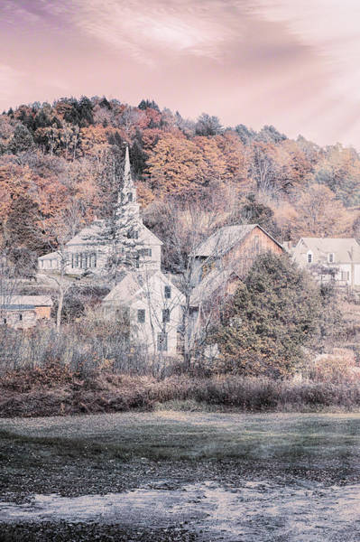 Photograph - Vermont Village In Autumn by Jeff Folger