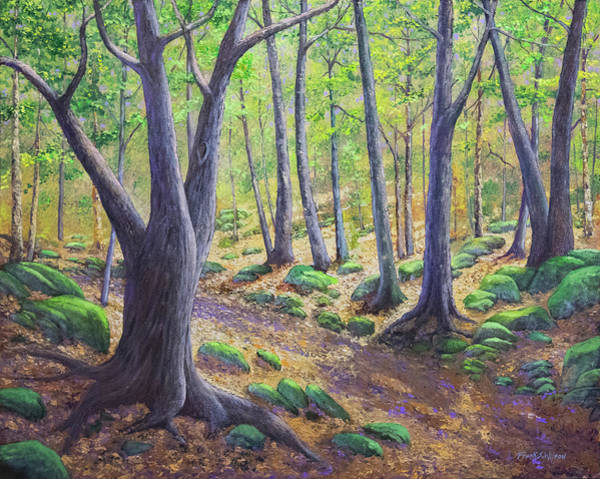 Painting - Vermont Woodland Spring by Frank Wilson