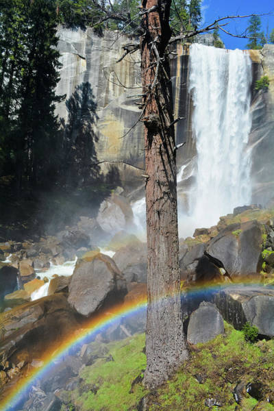 Photograph - Vernal Fall Yosemite Rainbow by Kyle Hanson