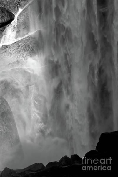 Vernal Fall Photograph - Vernal Falls Bw by Chris Brewington Photography LLC
