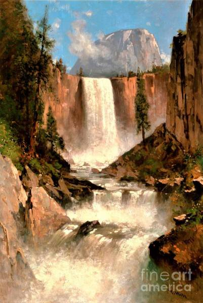 Wall Art - Painting - Vernal Falls Yosemite Valley by Pg Reproductions