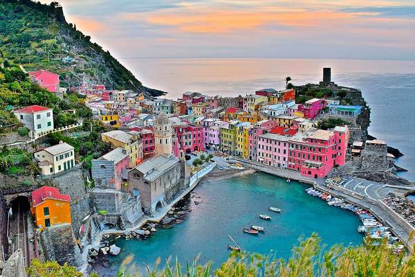 Little Italy Photograph - Vernazza At Daybreak by Frozen in Time Fine Art Photography