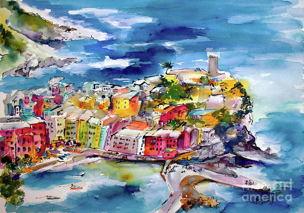 Painting - Vernazza Cinque Terre Paintings Of Italy by Ginette Callaway