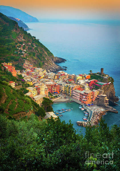 Italian Wine Photograph - Vernazza From Above by Inge Johnsson