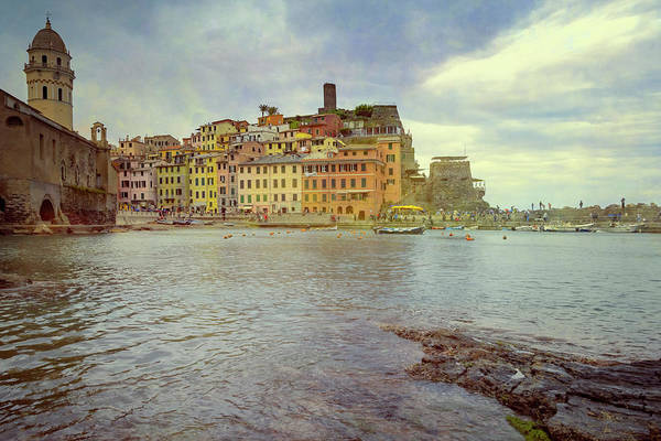 Photograph - Vernazza Harbor Cinque Terre Italy by Joan Carroll