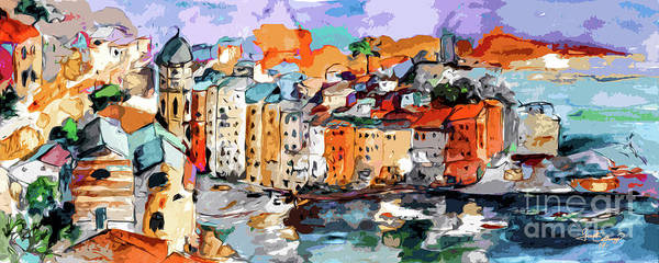 Mixed Media - Vernazza Italy Dolce Vita by Ginette Callaway