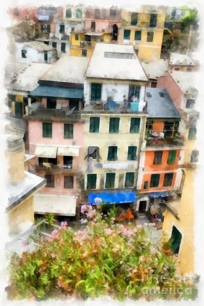 Vernazza Italy In The Cinque Terra Art Print