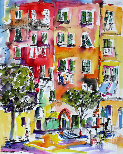 Painting - Vernazza Laundry by Ginette Callaway