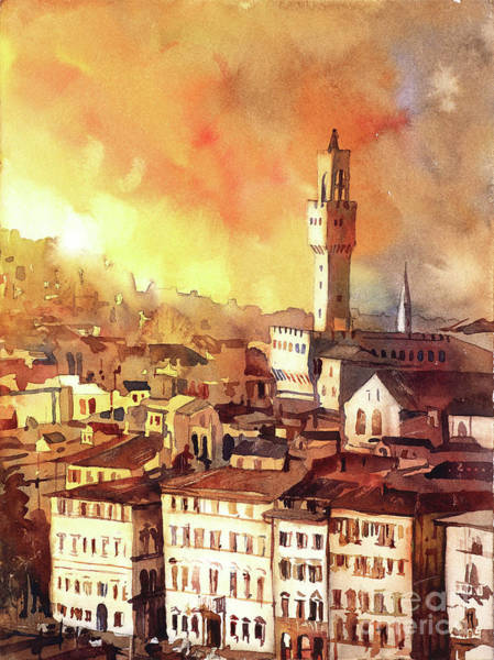 Wall Art - Painting - Florence Sunset I by Ryan Fox