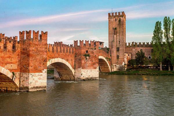 Wall Art - Photograph - Verona's Ponte Scaligero by W Chris Fooshee