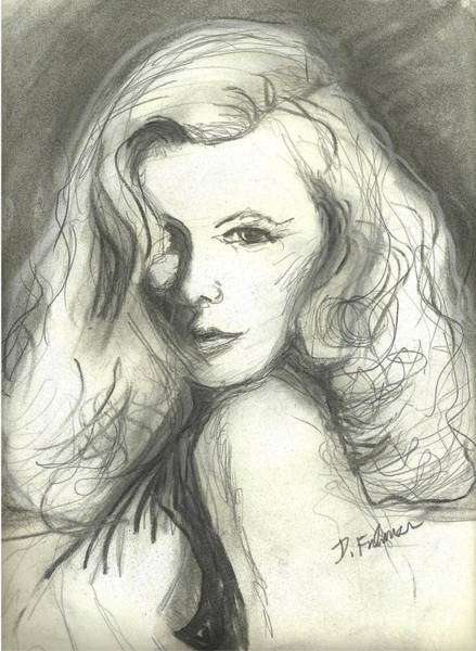 Mixed Media - Veronica Lake by Denise F Fulmer