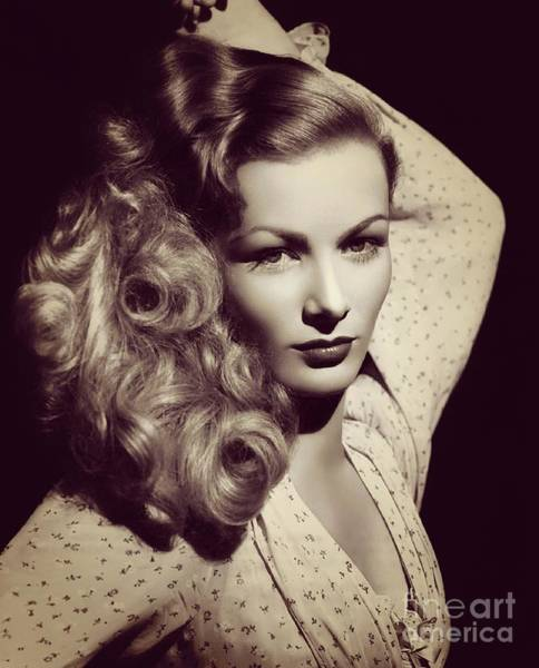 Veronica Photograph - Veronica Lake, Hollywood Legend by Esoterica Art Agency