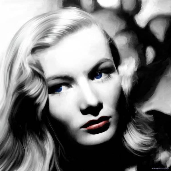 Veronica Lake Portrait #1 Art Print