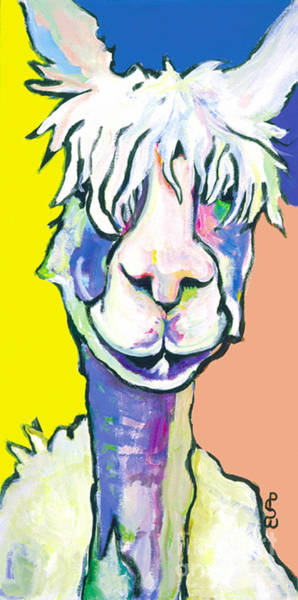 Alpaca Painting - Veronica by Pat Saunders-White