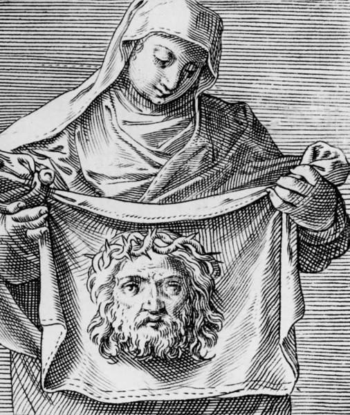 Gospel Drawing - Veronica's Cloth by Italian School