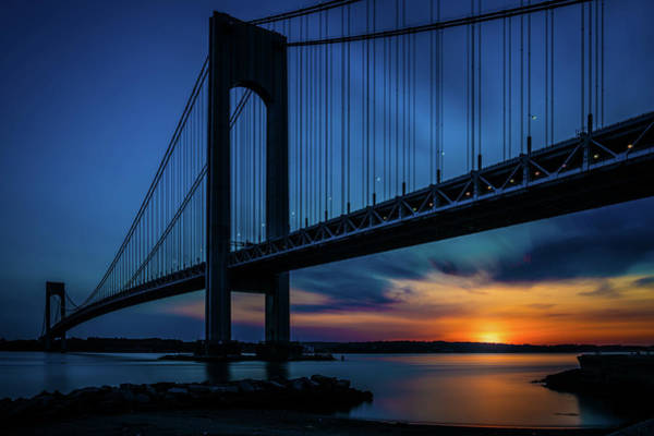 Photograph - Verrazano Sunset by Chris Lord