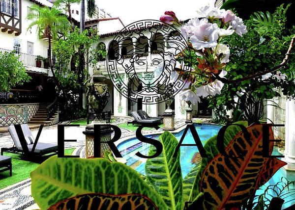 Mansion Mixed Media - Versace Mansion, Villa Casa Casuarina, Ocean Drive by Thomas Pollart