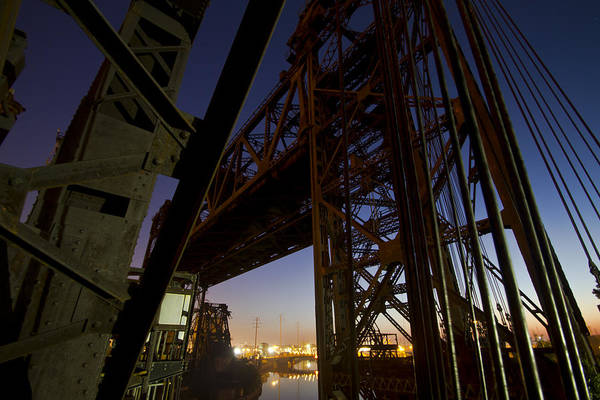 Photograph - Vertical Lift Bridge At Dawn by Sven Brogren