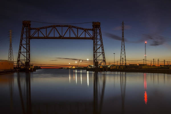 Photograph - Vertical Lift Bridge On Calumet River  by Sven Brogren