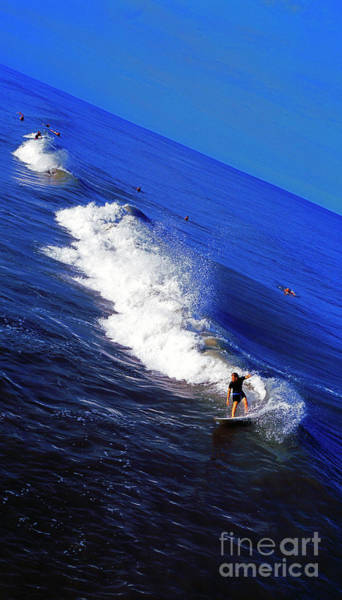 Photograph -  Surfer And Earths Curve  by Tom Jelen