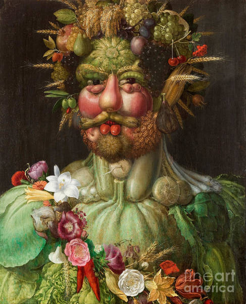 Wall Art - Painting - Vertumnus, 1591 by Giuseppe Arcimboldo