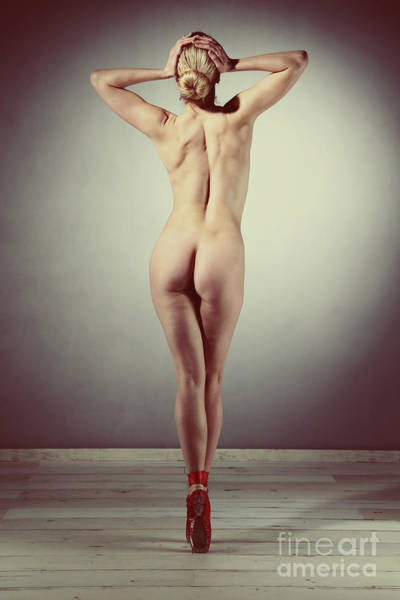 Photograph - Very Beautiful Nude Woman Posing Ballet Look by William Langeveld