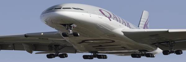 Wall Art - Photograph - Very Fat Qatar Airlines Airbus A380  by David Pyatt