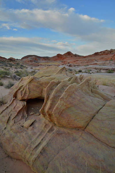 Photograph - Very Last Light On Valley Of Fire's Wash 3 by Ray Mathis